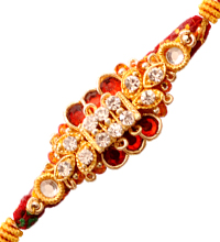 Fancy Rakhi Thread with Golden Work
