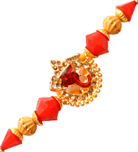 Single Piece Beaded Rakhi Thread