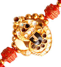 Beaded Mauli Rakhi with Stones