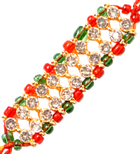 Rakhi Thread with Stones and Beads